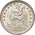 Seated Quarters, 1853 25C Arrows and Rays MS64 PCGS. CAC....
