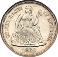 Seated Dimes, 1860 10C MS67 NGC....