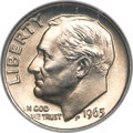 Roosevelt Dimes, 1965 10C MS68 Full Torch NGC....