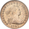 Early Half Dimes, 1797 H10C 16 Stars MS62 NGC....