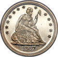 Proof Seated Quarters, 1867 25C PR65 Deep Cameo PCGS....