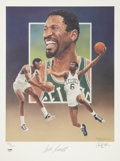 Baseball Collectibles:Others, Bill Russell Signed Lithograph by Christopher Paluso....