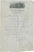 Autographs:Others, Early 1930's Lou Gehrig Handwritten Signed Letter....