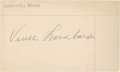 Football Collectibles:Others, Vince Lombardi Signed Index Card....