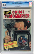 Golden Age (1938-1955):Crime, Casey-Crime Photographer #1 (Marvel, 1949) CGC VF 8.0 Off-white to white pages....