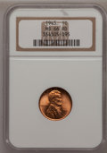 Lincoln Cents: , 1945 1C MS66 Red NGC. NGC Census: (956/205). PCGS Population(1161/47). Mintage: 1,040,515,008. Numismedia Wsl. Price for p...