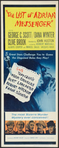"Movie Posters:Mystery, The List of Adrian Messenger (Universal, 1963). Insert (14"" X 36""). Mystery.. ..."