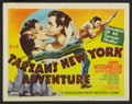 "Movie Posters:Adventure, Tarzan's New York Adventure (MGM, R-1948). Lobby Card Set of 8 (11""X 14""). Adventure.. ... (Total: 8 Items)"