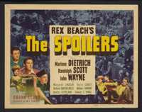 """The Spoilers (Universal, 1942). Title Lobby Card and Lobby Cards (4) (11"""" X 14""""). Western. ... (Total: 5 Items..."""