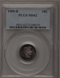 Barber Dimes: , 1909-D 10C MS62 PCGS. PCGS Population (12/46). NGC Census: (6/44). Mintage: 954,000. Numismedia Wsl. Price for problem free...