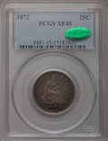 Seated Quarters: , 1872 25C XF45 PCGS. CAC. PCGS Population (5/32). NGC Census:(1/32). Mintage: 182,000. Numismedia Wsl. Price for problem fr...