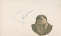 Football Collectibles:Others, Henry Jordan Signed Index Card....