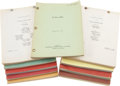 Movie/TV Memorabilia:Documents, Universal Pictures My Man Godfrey, Bonzo Goes toCollege, and Other Vintage 1950s-'60s Movie Scripts.... (Total:120 Items)