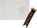 Music Memorabilia:Photos, Buddy Holly's High School Graduation Invitation with Ribbon....(Total: 2 Items)