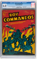 Golden Age (1938-1955):War, Boy Commandos #1 (DC, 1942) CGC FN 6.0 Cream to off-white pages....