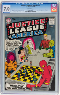 Justice League of America #1 (DC, 1960) CGC FN/VF 7.0 Off-white pages