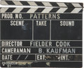 Movie/TV Memorabilia:Memorabilia, Patterns Production-Used Clapperboard....
