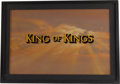 Movie/TV Memorabilia:Original Art, King of Kings Original Title Art. ...