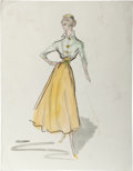 Movie/TV Memorabilia:Costumes, Edith Head's Collection of Costume Sketches.... (Total: 9 Items)