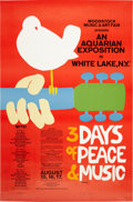 Music Memorabilia:Posters, Woodstock Festival Original Edition Poster, Signed and Numbered bythe Artist, 108/144 (1969)....
