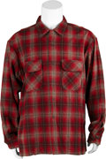 Movie/TV Memorabilia:Costumes, Beerfest - Kevin Heffernan Screen-Featured Red Plaid Buttoned Shirt....
