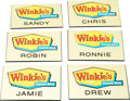 "Movie/TV Memorabilia:Props, Mullholland Drive Waitress Name Tags from ""Winkie's""...."