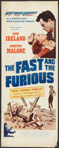 "Movie Posters:Action, The Fast and the Furious Lot (American Releasing Corp., 1954).Inserts (2) (14"" X 36""). Action.. ... (Total: 2 Items)"