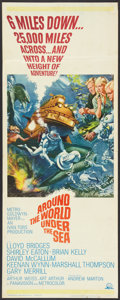 "Movie Posters:Adventure, Around the World, Under the Sea (MGM, 1966). Insert (14"" X 36"").Adventure.. ..."