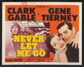 "Movie Posters:Adventure, Never Let Me Go (MGM, 1953). Lobby Card Set of 8 (11"" X 14"").Adventure.. ... (Total: 8 Items)"