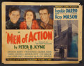 "Movie Posters:Action, Men of Action (Conn, 1935). Lobby Card Set of 8 (11"" X 14""). Action.. ... (Total: 8 Items)"