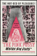 """Movie Posters:Sexploitation, The Pink Pussy: Where Sin Lives (Cambist Films, 1964). One Sheet(27"""" X 41""""). Sexploitation.. ..."""