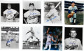Baseball Collectibles:Photos, Dodgers Signed Photographs Lot of 17....