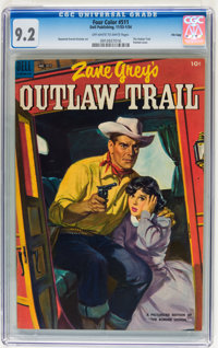 Four Color #511 The Outlaw Trail - File Copy (Dell, 1953) CGC NM- 9.2 Off-white to white pages