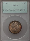 Barber Quarters, 1912 25C MS66 PCGS....