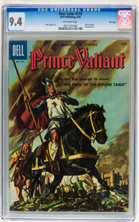Four Color #719 Prince Valiant - File Copy (Dell, 1956) CGC NM 9.4 Off-white pages