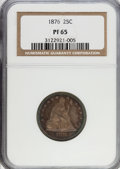Proof Seated Quarters, 1876 25C PR65 NGC....