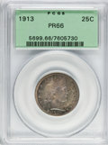Proof Barber Quarters, 1913 25C PR66 PCGS....