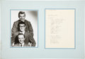 Music Memorabilia:Autographs and Signed Items, Buddy Holly's Homework with Crickets Band Photo....