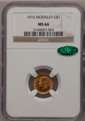 Commemorative Gold, 1916 G$1 McKinley MS66 NGC. CAC....