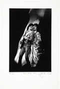 Music Memorabilia:Photos, Rolling Stones' Mick and Ron - John Robert Rowlands Photo Print,Artist Proof 2/15 (1975)....
