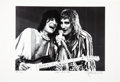 Music Memorabilia:Photos, Faces' Ron Wood and Rod Stewart Photo Print by John RobertRowlands, Artist Proof 1/15 (circa 1973)....