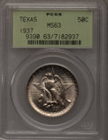 Commemorative Silver: , 1937 50C Texas MS63 PCGS. PCGS Population (122/1426). NGC Census:(23/1018). Mintage: 6,571. Numismedia Wsl. Price for prob...