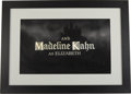 Movie/TV Memorabilia:Original Art, Young Frankenstein Original Glass Painting of MadelineKahn's Screen Credit....
