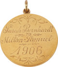 Movie/TV Memorabilia:Memorabilia, Sarah Bernhardt Gold Coin Gift and Letter of Authenticity....