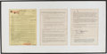 Music Memorabilia:Autographs and Signed Items, Duane Allman Contract Framed Display....