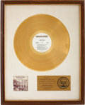 Music Memorabilia:Awards, Duane Allman An Anthology RIAA Gold Album Award....