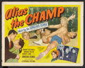 "Movie Posters:Sports, Alias the Champ (Republic, 1949). Half Sheet (22"" X 28"") Style A. Sports.. ..."