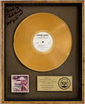 Music Memorabilia:Awards, The Marshall Tucker Band A New Life RIAA Gold AlbumAward....