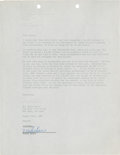Music Memorabilia:Autographs and Signed Items, Miles Davis Signed Agreement....