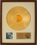 Music Memorabilia:Awards, Harry Nilsson Nilsson Schmilsson RIAA Gold Album Award....